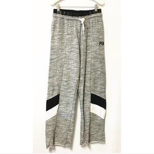 PINK VS boyfriend sweatpants gray black SMALL